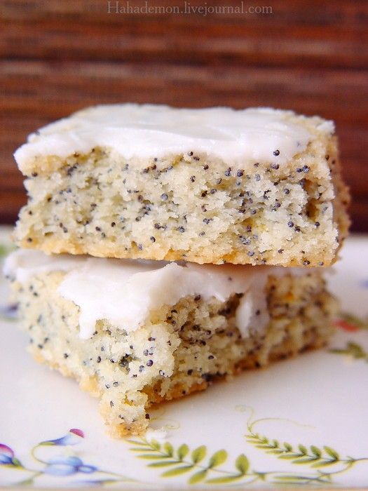 Patted into a square pan, cut into squares and then baked—Lemon Poppyseeds Cookies 42