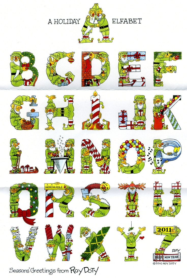 Christmas Alphabet, Creative Lettering Alphabet ABC of ...