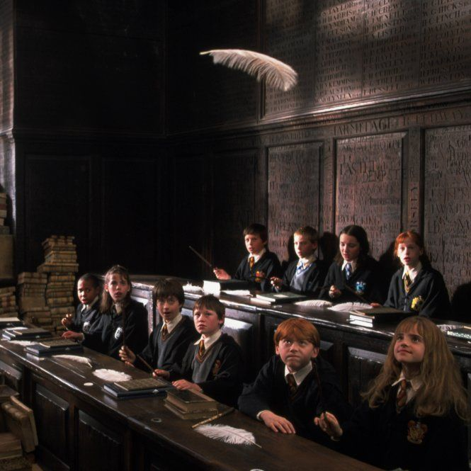 Flitwick Teaches His First Year Charms Class Wingardium Leviosa Harry Potter Pictures Harry Potter Movies Harry Potter Cast