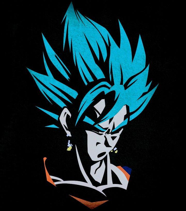 Vegito Minimalist Dragon Ball Super Dragon Ball Wallpapers Dragon Ball Art Dragon Ball Goku