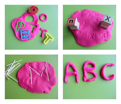 Use playdough to learn letters from Scholastic Parents - great for preschool