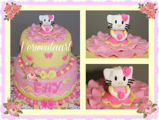 Hello Kitty taart, cake