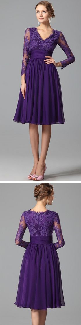 Purple Cocktail Dress Party Dress