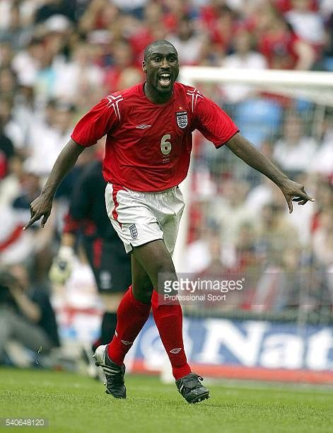 Sol Campbell of England in action during the FA Summer Tournament match between England and Iceland at the City of Manchester Stadium on June 5 2004...