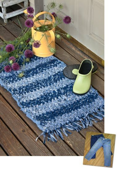 recycle+ideas | More Recycling Ideas for Kids' Blue Jeans {Area Rugs}