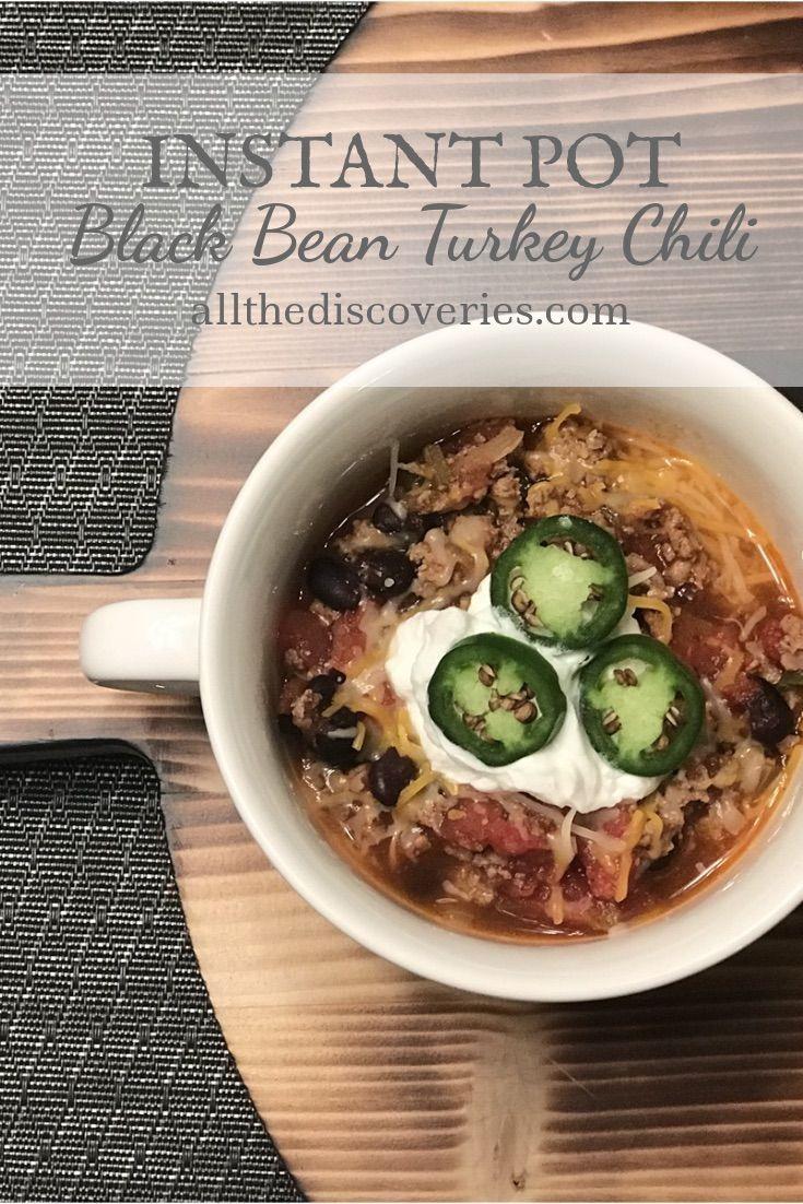 Instant Pot Black Bean Turkey Chili... comfort food at its best!