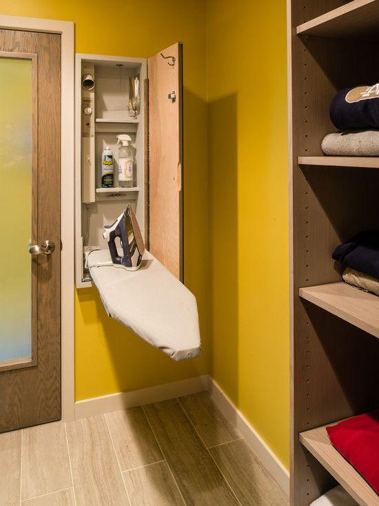 10 imágenes para diseñar el cuarto de la lavadora perfecto. Muebles y accesorios para mantener el orden.