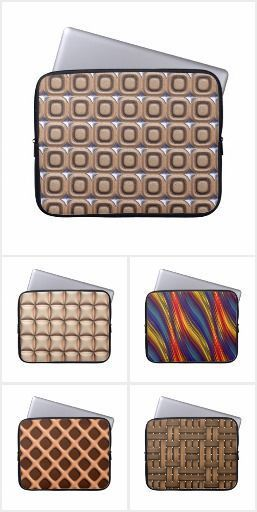 3d effect seamless pattern with #LaptopSleeve