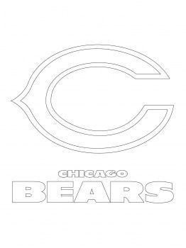 chicago bears logo pumpkin sheets | Chicago Bears Logo Coloring Page