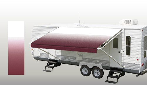 RV Patio Awning Fabric Burgundy Fade 17' *(approximate fabric width 16' 2-3)* Brand new RV Patio Awning Replacement fabric Burgundy Fade!. Durable 15oz vinyl with 16oz vinyl weather shield!. Fabric to measure 16' 2-3, this is for an 17' awning.. Standard 8' projection 1/4 poly cord for rail and 3/16 poly cord for roller tube.. Will work with A&E (Dometic), Carefree, and Carter manual awnings..... #SunWave #AutomotivePartsAndAccessories