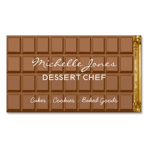 Chocolate bar dessert chef business card.  Click on the artist's link.