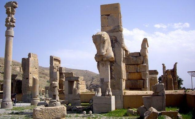 The ruins at Persopolis in Iran