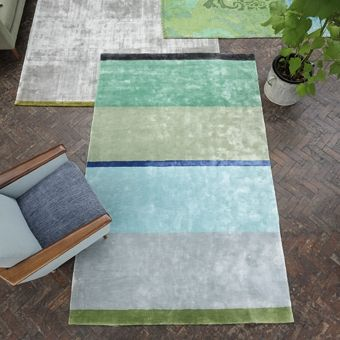 Designers Guild rugs offer florals, stripes and geometrics in a range of finishes from gorgeous deep piles to natural textures. Adding colour, texture and warmth to a room has never been easier!