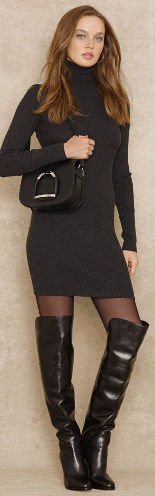 Blue Label Turtleneck Sweater Dress | City Style | The Sexy woman in Executive Black | #Thejewelryhut