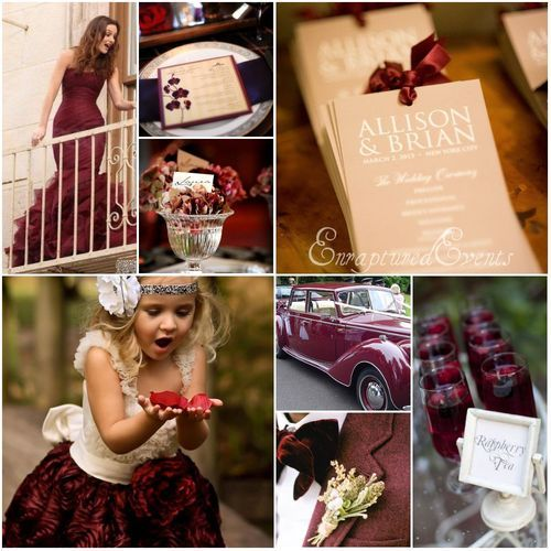 gold and burgundy wedding color palette inspiration