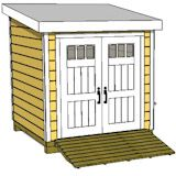 8x12 lean to shed front
