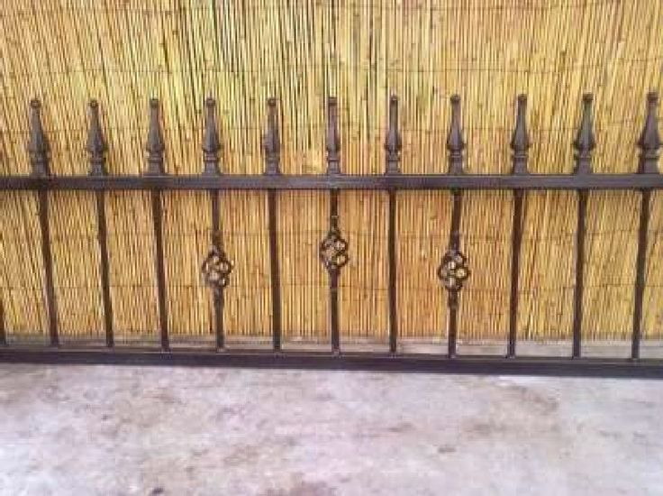 Wrought Iron Steel Metal Fencing Railings 18 Inch