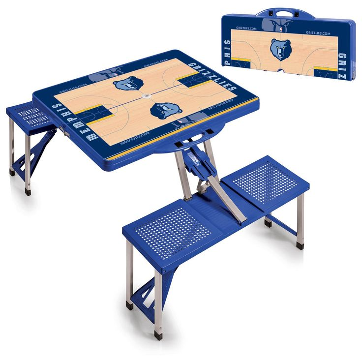 The Portable NBA Blue Memphis Grizzlies Picnic Table Sport is a compact fold-out table with bench seats for four that you can take anywhere. Free Shipping. Visit SportsFansPlus.com for Details.