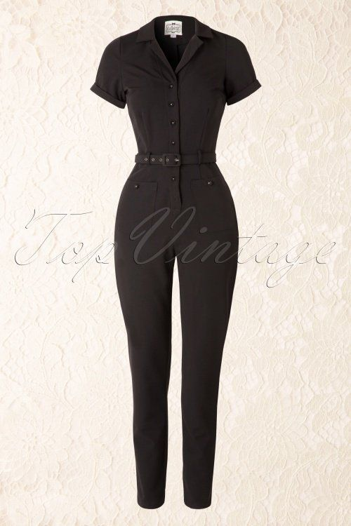 Collectif Clothing Black Carrie Jumpsuit 133 10 16200 20151005 016