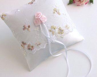 pastel ring bearer pillow wth roses, pastel ring bearer, pastel wedding ring holder, pastel wedding ring pillow, pastel ring pillow, wedding
