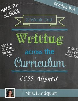 writing across the curriculum elementary