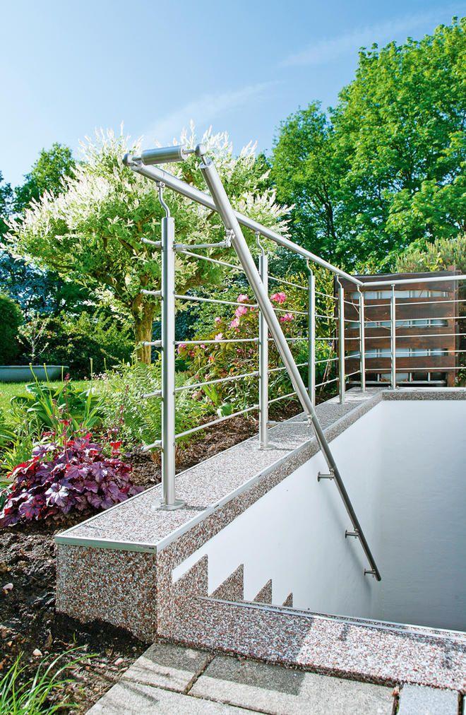 Top Außentreppe sanieren | Gardening | Kellertreppe, Handlauf IN34