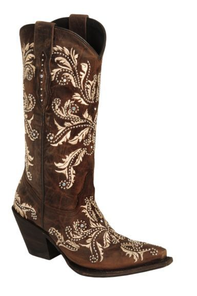 Lucchese Handcrafted 1883 Redwood Aspen Studded Angeliana Boots - Snip Toe available at #Sheplers