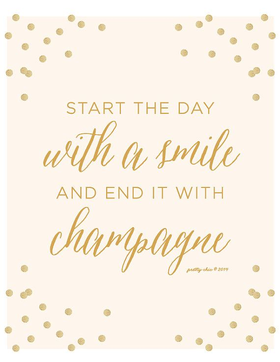 Nothing is better than a smile and some champagne.