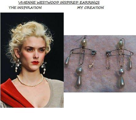 VIVIENNE WESTWOOD INSPIRED EARRINGS: DIY VIVIENNE WESTWOOD INSPIRED EARRINGS