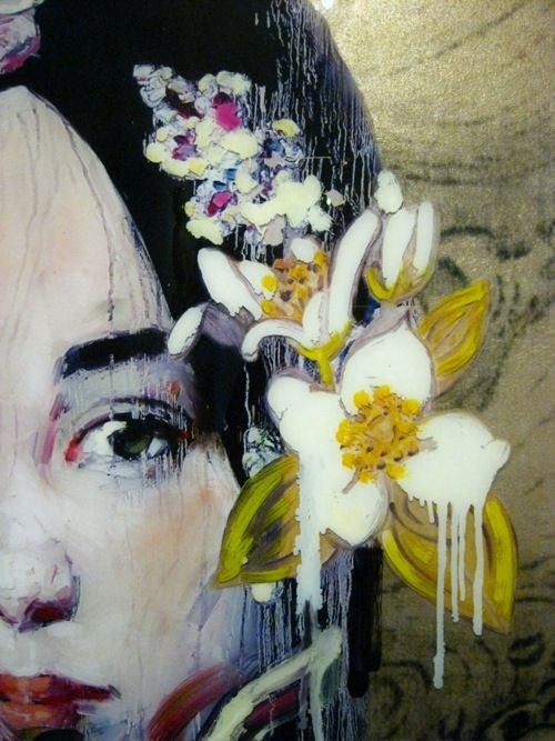 Hung Liu  As one of China's foremost female contemporary artists, Hung Liu has made a name for herself as a creator of large, dripping and emotionally-charged paintings based on old Chinese photographs.