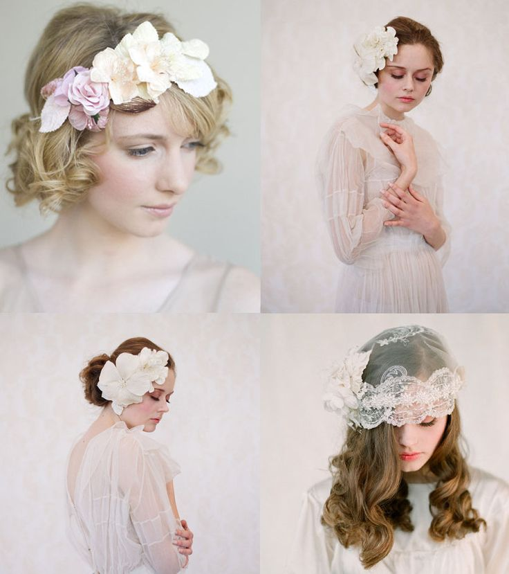 From stylish jeweled tiaras to jeweled combos and modern birdcage veils, find inspiration for your wedding day hair style with these wedding hair embellishments. | See more ideas about Wedding Updo, Hair style bride and Wedding hair styles.