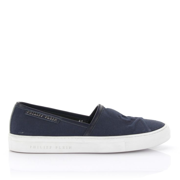 Philipp Plein Sneakers Slip On Canvas blau