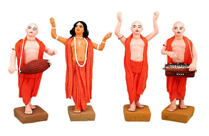Four Vaishnavas - Devotees of Lord krishna (Terracotta)