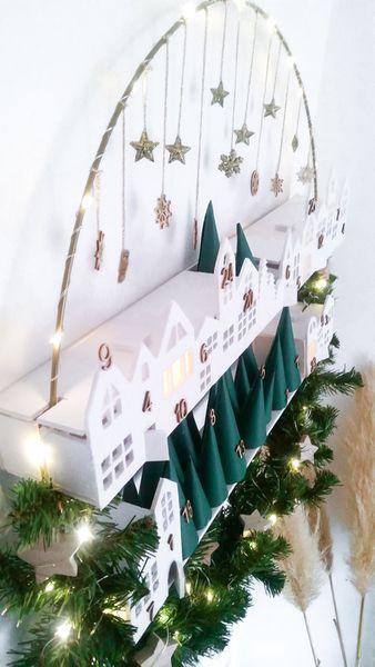Calendrier de l'Avent façon couronne de Noël