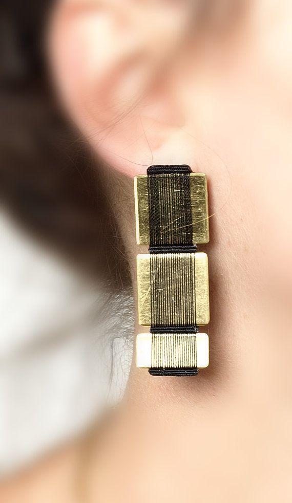 Original statement Earrings, statement jewelry, cool fashion earrings, avant garde earrings, evening earrings, designer jewelry on Etsy, $99.66