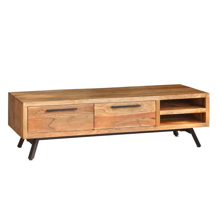 TV-Lowboard Amla II - Akazie massiv / Metall - Akazie / Anthrazit, ars manufacti Jetzt bestellen unter: https://moebel.ladendirekt.de/wohnzimmer/tv-hifi-moebel/tv-lowboards/?uid=ed467e40-8ac8-5a39-a4a7-dc75f22fe633&utm_source=pinterest&utm_medium=pin&utm_campaign=boards #möbel #ars #manufacti #kommoden #tvlowboards #wohnzimmer #sideboards #tvhifimoebel