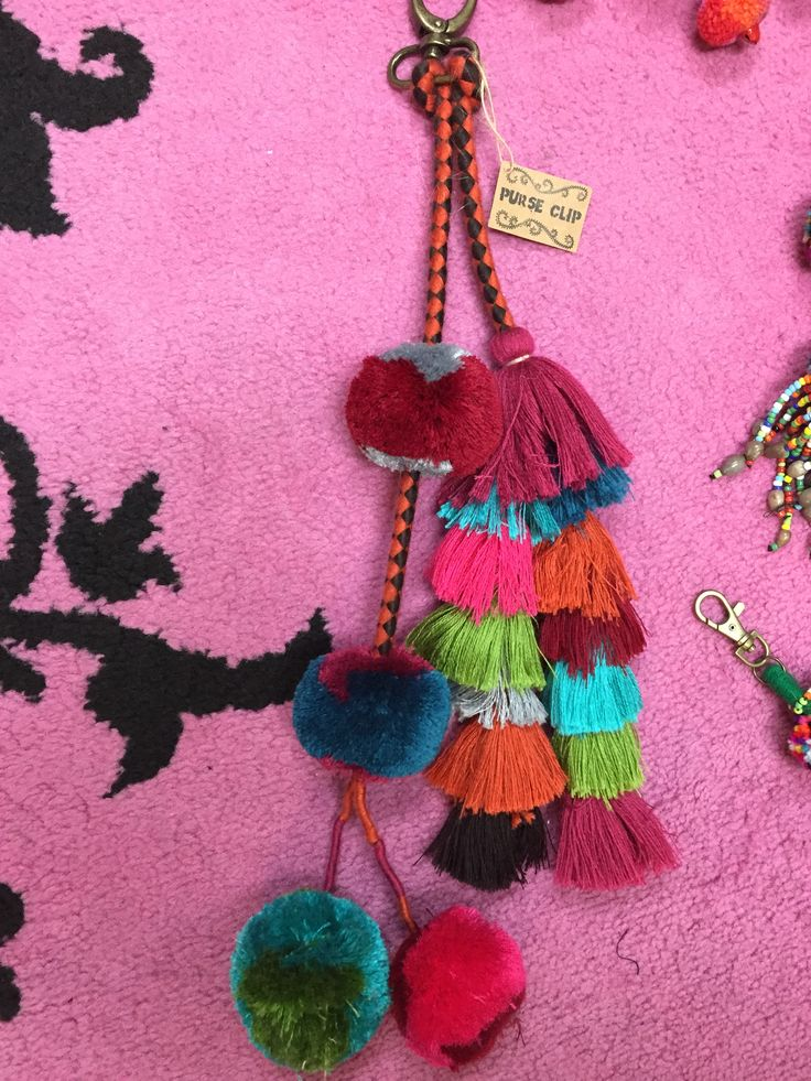 Pom Pom and tassel long key chain, very boho hippie $35 shipped free! Call (361)244-7885 to order, and be sure to follow us on Facebook and Instagram (@glamruscctx) to keep up with the glam news!