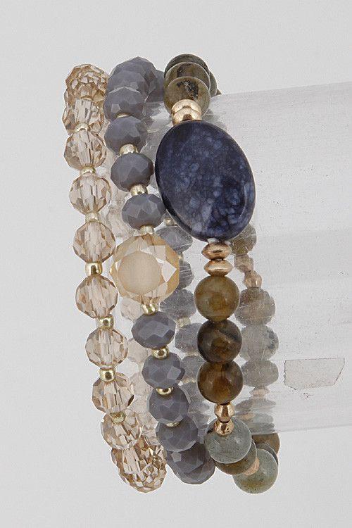 Beaded Multi Strand Bracelet - Love Threads