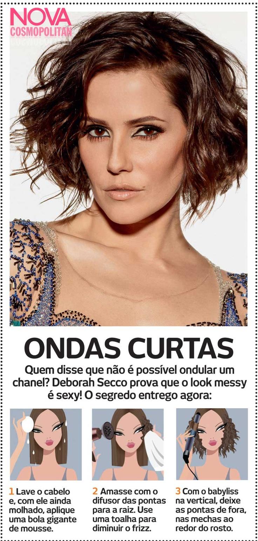 Aprenda a fazer um Chanel com ondas, inspirado no look de capa da Deborah Secco com as dicas de @Marisa Biaggi !