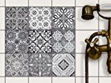 Tile Stickers - Self Adhesive Vinyl Tile Transfers | Foil Decals for Kitchen & Bathroom Wall Tiles | Removable Wall Stickers - Home Decoration | 4x4 inches - 10x10 cm / Different Sizes - 9 Pieces
