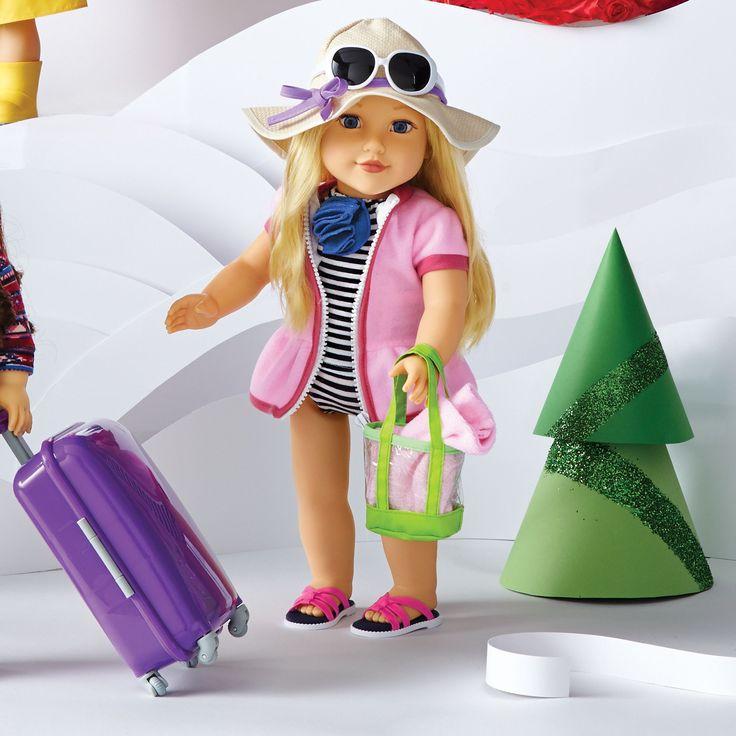 """Newberry(TM/MC) 18"""" Doll - Beach Girl Sommer"""