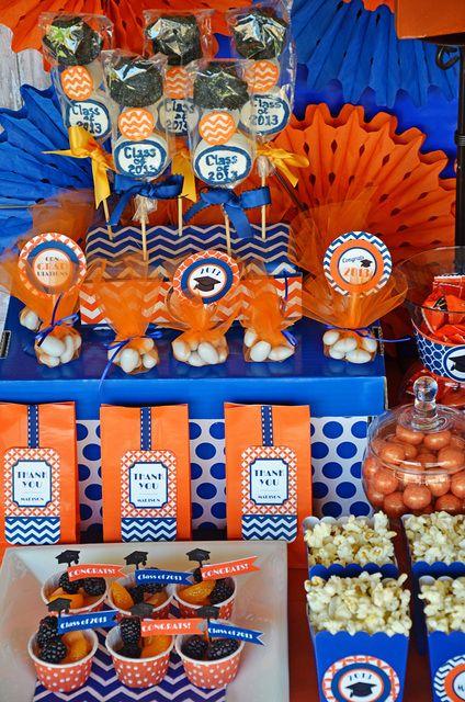 "Photo 16 of 40: Orange/blue / Graduation/End of School ""Graduation Party"" | Catch My Party"