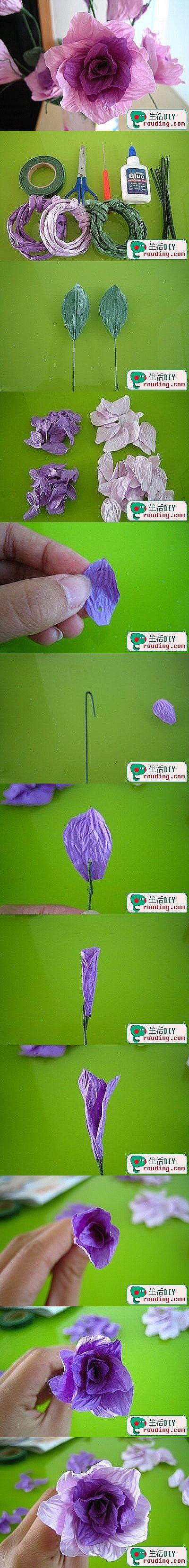折纸 布艺 手工DIY 教程 衍纸 茱萸花的做法