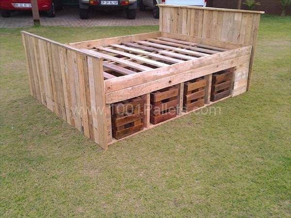 25 best ideas about pallet bed frames on pinterest diy
