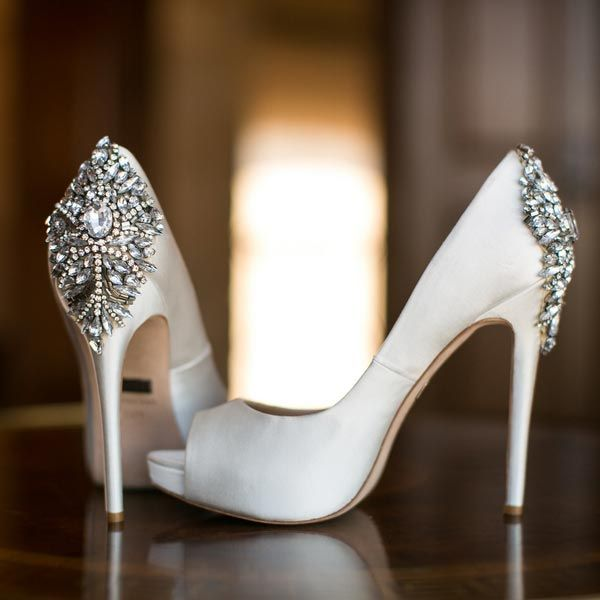 Stun from every angle thanks to crystal-encrusted straps, Art Deco-style brooches or T-strap embellishments. Post-wedding, these shoes are great for adding a little sparkle to an otherwise simple outfit.