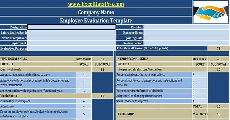 Evaluation is a key process to ensure that employees are performing right and where they can improve. Download the Employee Evaluation Excel Template.