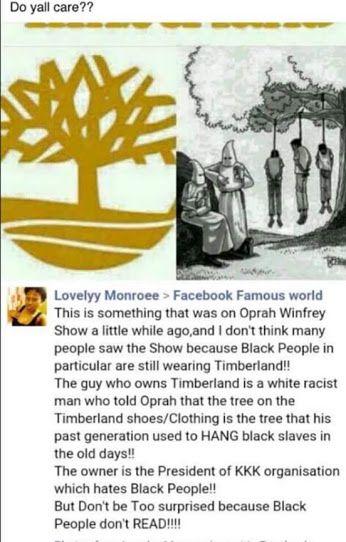 woah... Well time to boycott Timberland