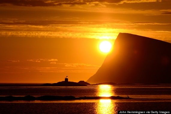This natural phenomenon -- 24 hours of visible sun -- occurs during the summer in northern Norway, which sits above the Arctic Circle. Not only is the midnight sun an incredible sight, it leaves more hours in the day for fishing, boating, climbing and exploring.