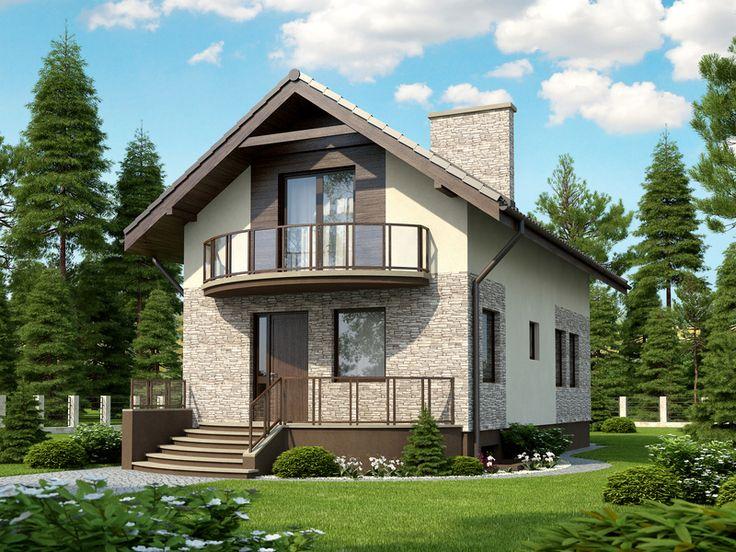 Mieści się on nawet na wąskiej działce. Wnętrze zaplanowane w przemyślany sposób daje dużą wygodę życia nawet czteroosobowej rodzinie.