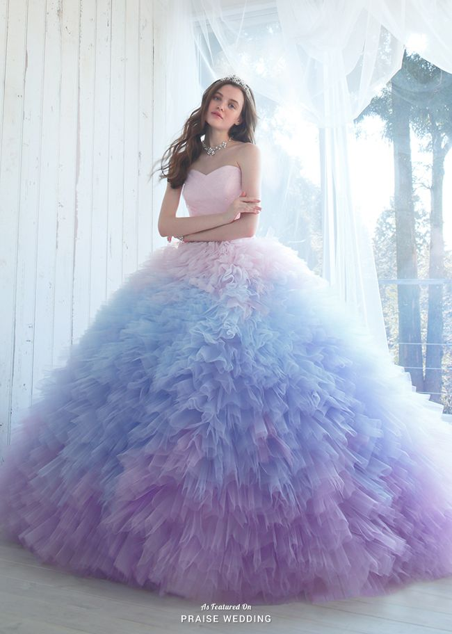 This Dreamy Pastel Ombre Gown From Kiyoko Hata Is Taking